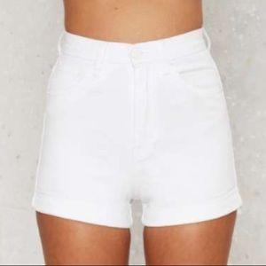 Zee Gee Why Hill Billy high waist denim shorts